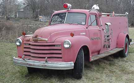 1955 Chevy Truck >> Mike Kobel's 1951 Chevrolet Firetruck -- A vintage old ...