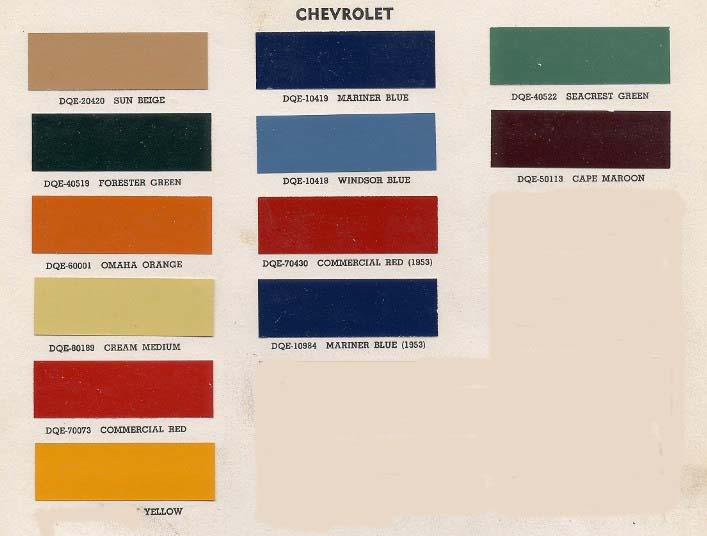 1956 Chevy Truck Engine Color http://stovebolt.com/techtips/